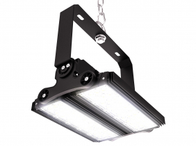 Cloche linéaire LED high bay 150W 21.750lm dimmable 2 modules orientables AdLuminis