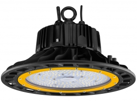 Cloche LED UFO high bay 100W 14.500lm dimmable suspension industrielle AdLuminis